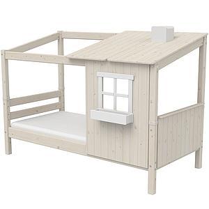 Spielbett Baumhaus 90x190cm 1/2 PLAY HOUSE CLASSIC Flexa weiß