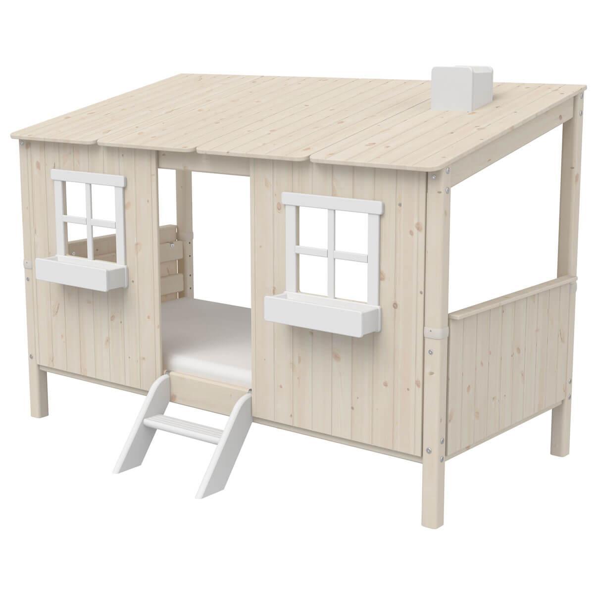 Spielbett Baumhaus 90x200cm 1/1 PLAY HOUSE CLASSIC Flexa whitewash-weiß