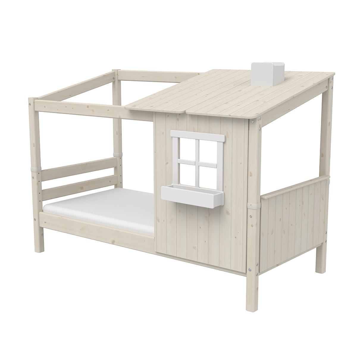 Spielbett Baumhaus 90x200cm 1/2 PLAY HOUSE CLASSIC Flexa weiß