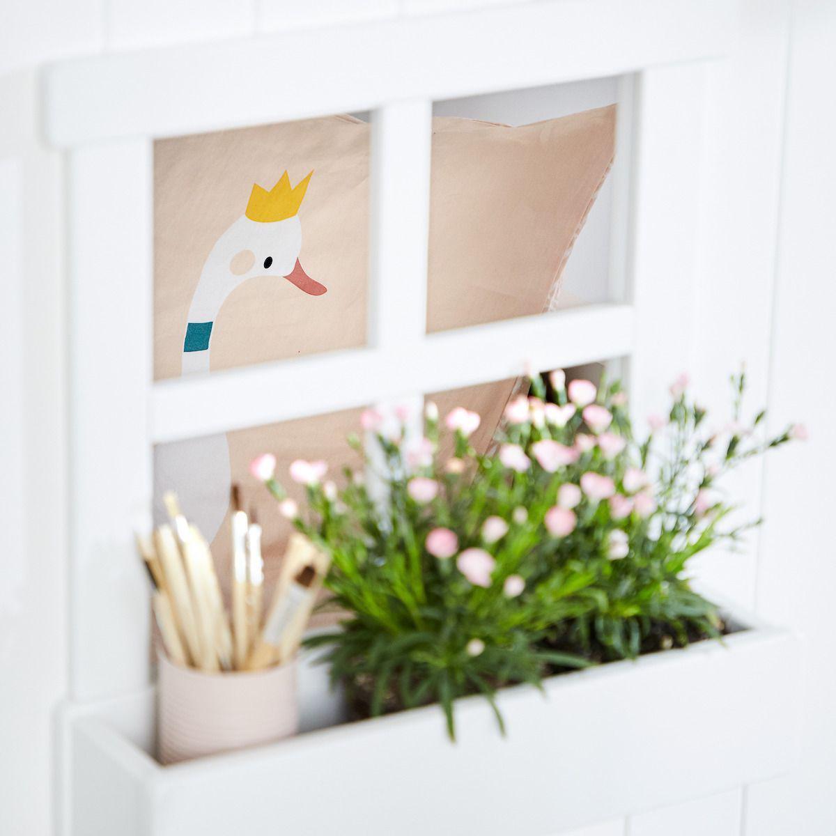 Spielbett Baumhaus 90x200cm PLAY HOUSE CLASSIC Flexa weiß-grey washed