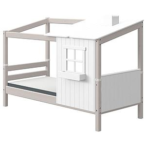 Spielbett Baumhaus 90x200cm PLAY HOUSE CLASSIC Flexa weiß-grey washed