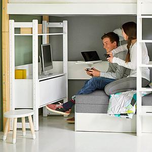 Tablet Halter weiß für White Betten CLICKON by Flexa