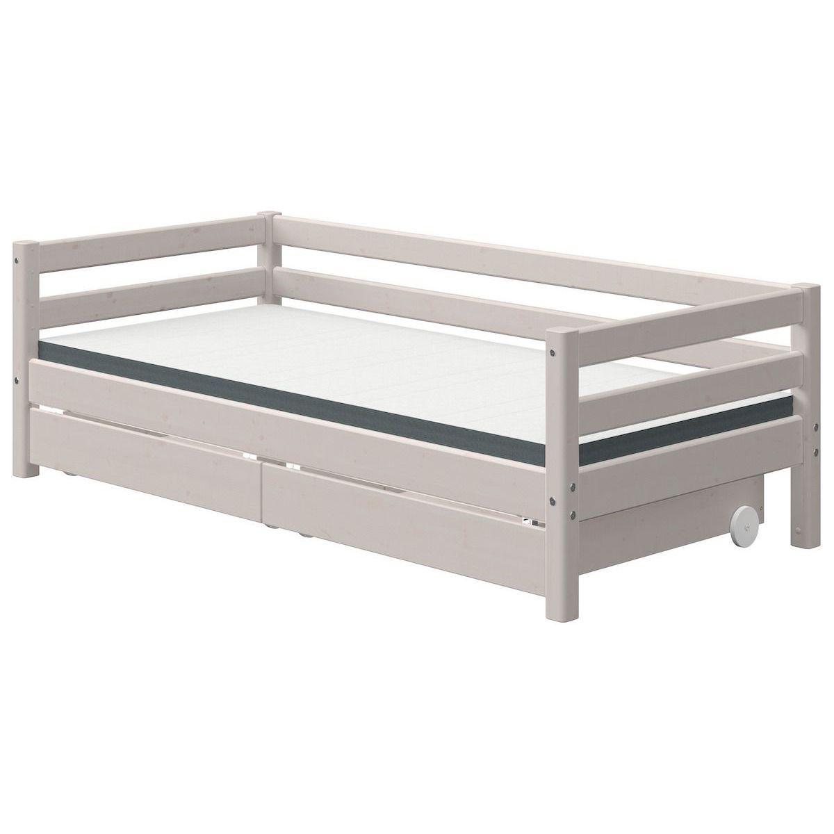 Tagesbett 90x190cm 2 Schubladen CLASSIC Flexa grey washed