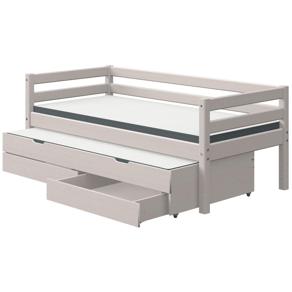 Tagesbett 90x190cm Ausziehbett 2 Schubladen CLASSIC Flexa grey washed