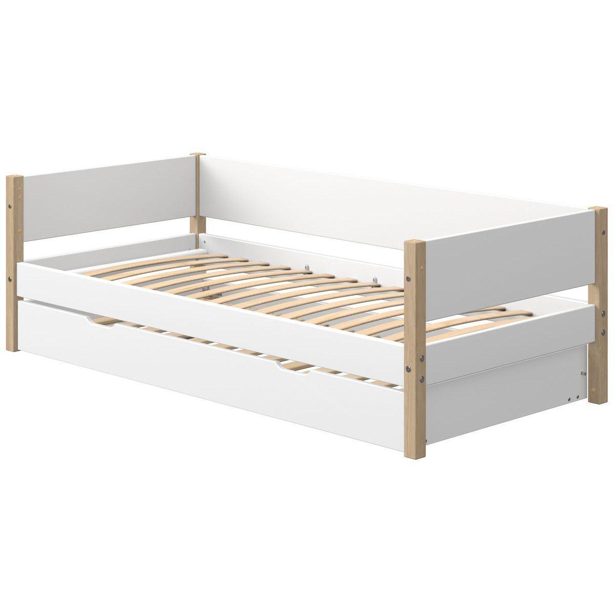 Tagesbett mitwachsend 200x90cm Ausziehbett NOR Eiche-weiß