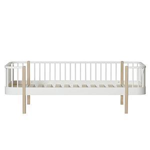 Tagesbett mitwachsend 90x200cm WOOD Oliver Furniture weiß-Eiche