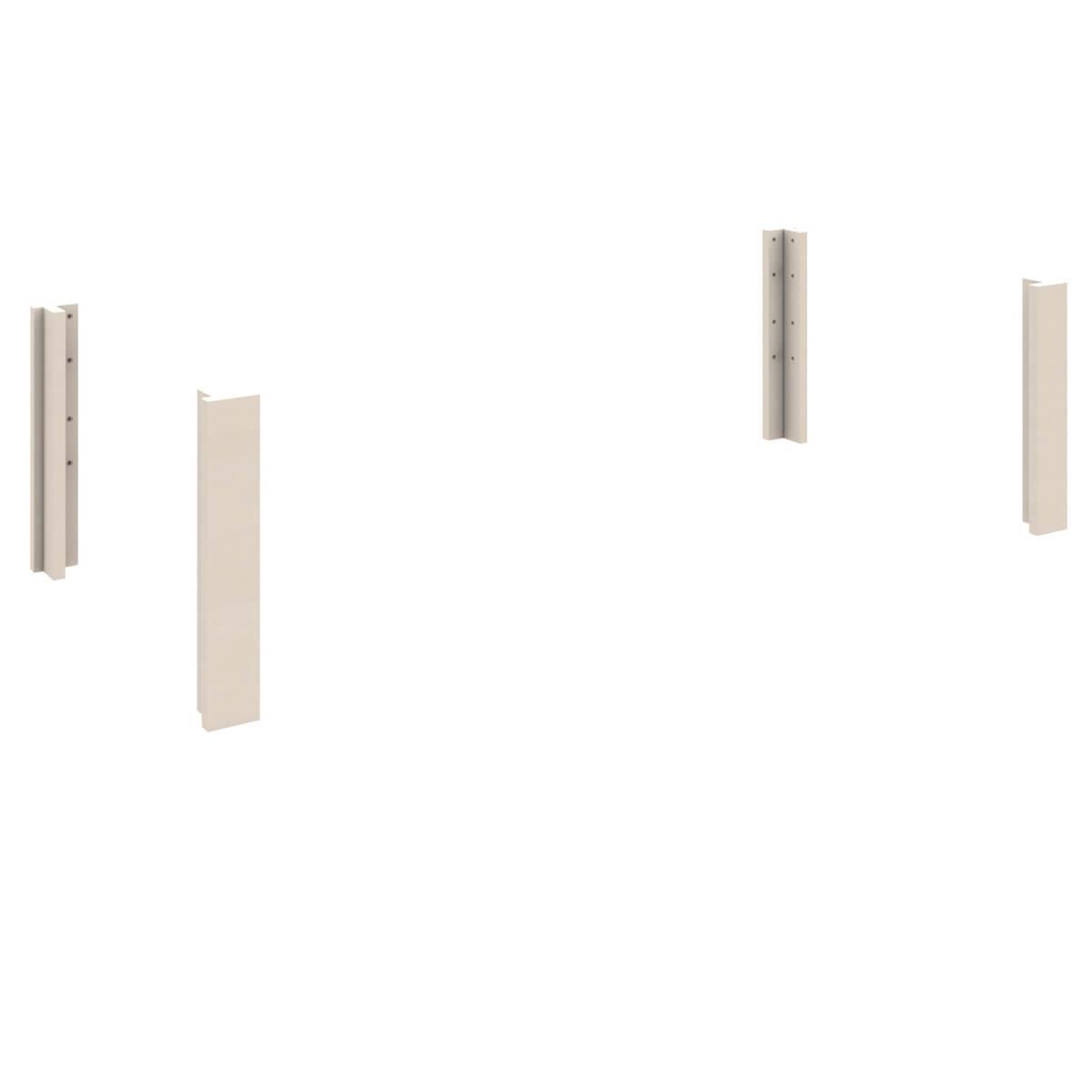 Umbausatz Hochbett-Jugendliege 4 kleine Eckpfosten DESTYLE Debreuyn Buche massiv weiß gebeizt-lackiert