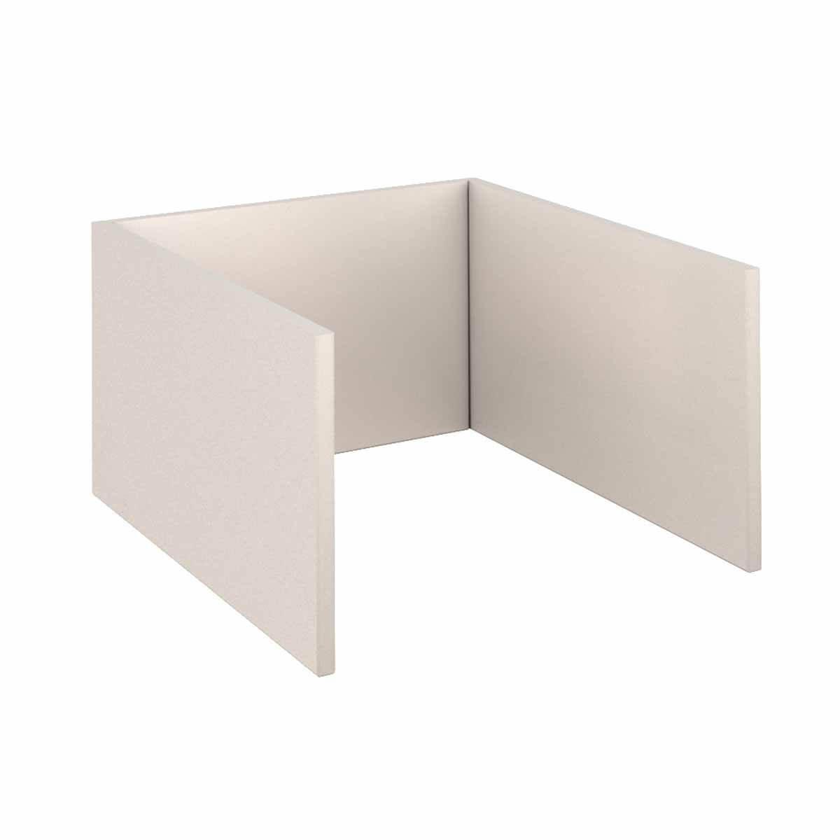 Unterbau Konstruktion Spieltisch KASVA Mdf weiß-lackiert