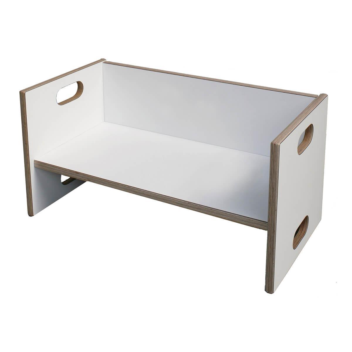 Wandelbank DECOR Debreuyn  - Multiplex weiß HPL  - Sitzfläche weiss
