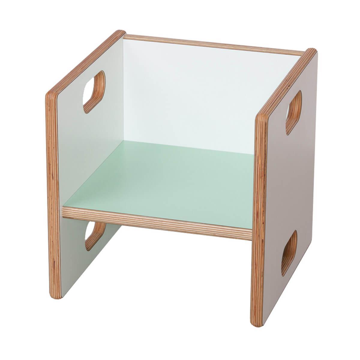 Wandelstuhl DECOR Debreuyn Multiplex weiß HPL - Sitzfläche mint