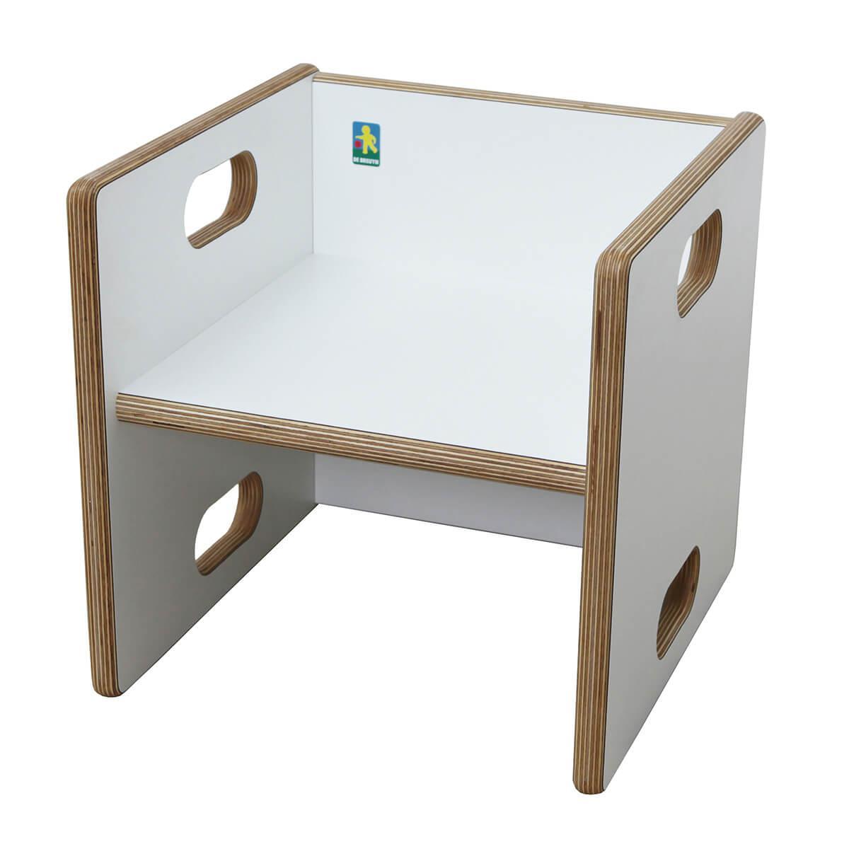 Wandelstuhl DECOR Debreuyn Multiplex weiß HPL - Sitzfläche weiß