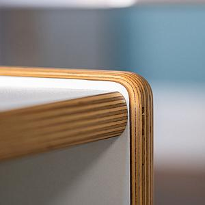 Wandelstuhl DECOR Debreuyn  - Multiplex weiß HPL   -  Sitzfläche weiß