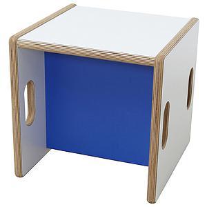 Wandelstuhl DECOR Debreuyn Multiplex-weiß Sitzfläche dunkelblau - OHNE VERPACKUNG B 32 x H 32 x T 32 cm