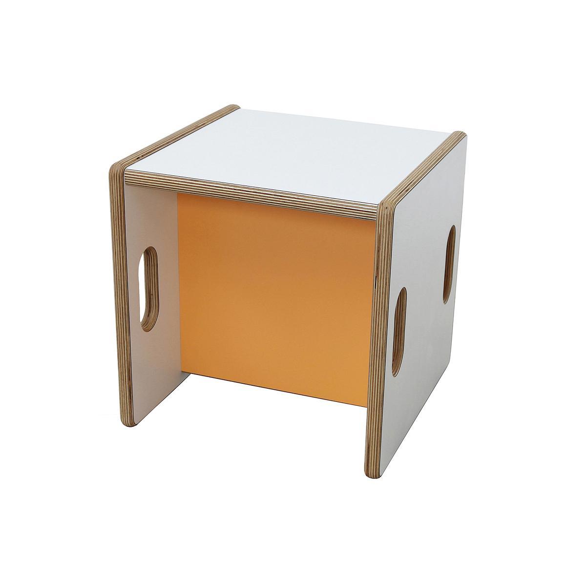 Wandelstuhl DECOR Debreuyn Multiplex-weiß Sitzfläche orange - OHNE VERPACKUNG B 32 x H 32 x T 32 cm