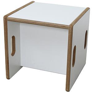 Wandelstuhl DECOR Debreuyn Multiplex-weiß Sitzfläche weiss - OHNE VERPACKUNG B 32 x H 32 x T 32 cm