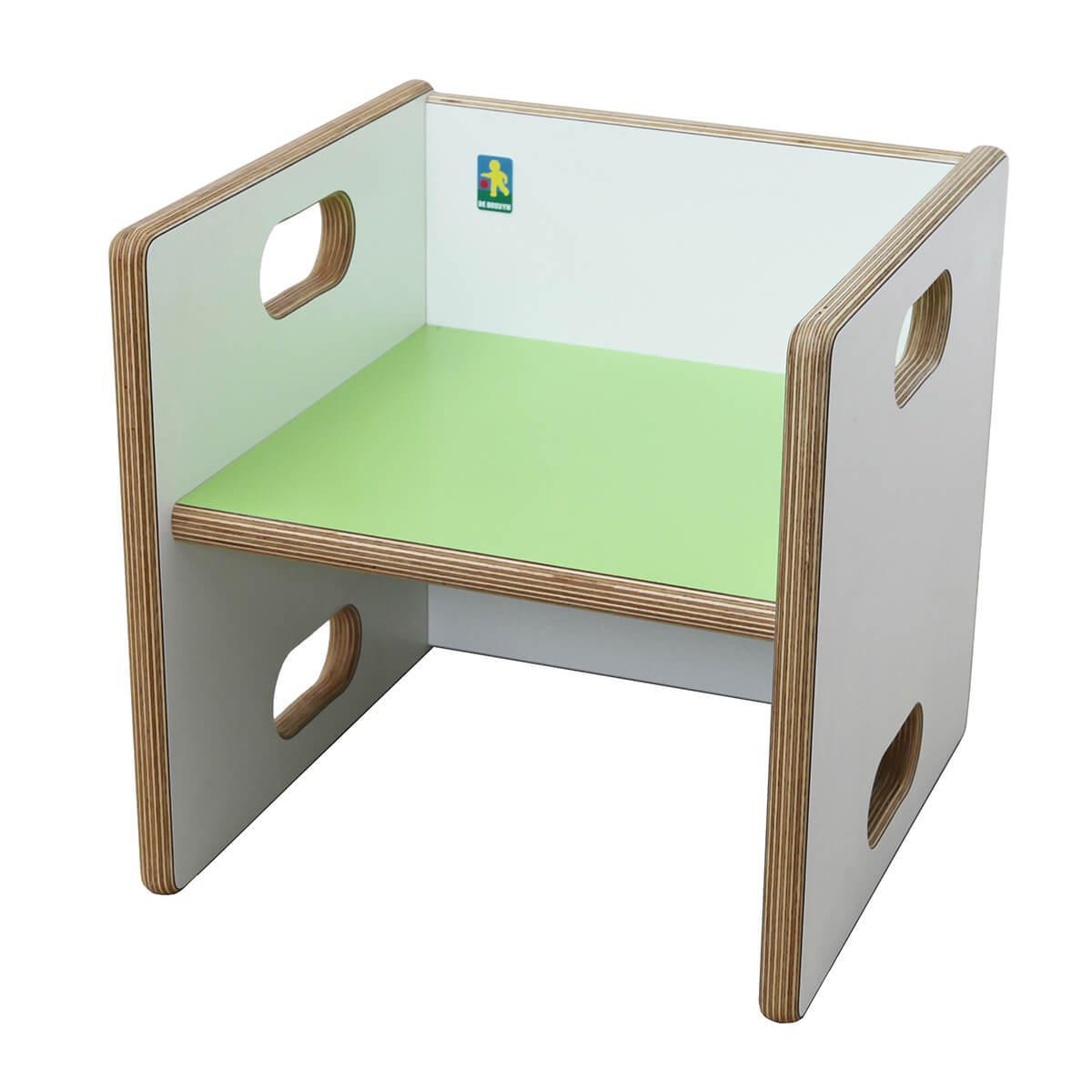 Wandelstuhl ZIGGY de Breuyn Multiplex weiß HPL - Sitzfläche lindgrün