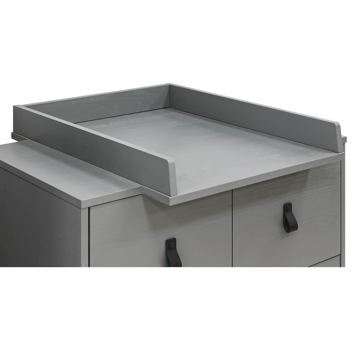 Wickelaufsatz MILO Bopita Steel Grey
