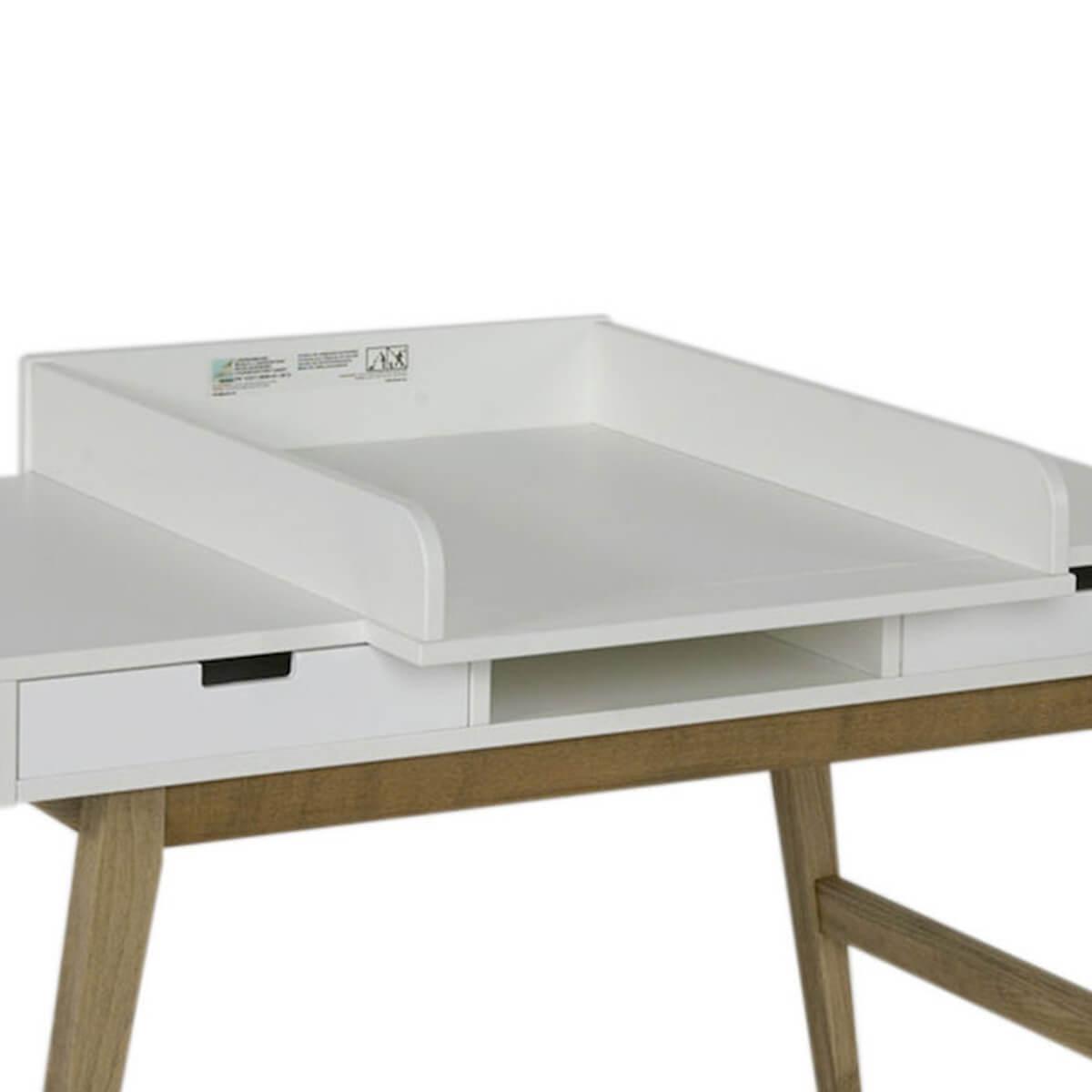 Wickelaufsatz Schreibtisch TRENDY Quax weiß