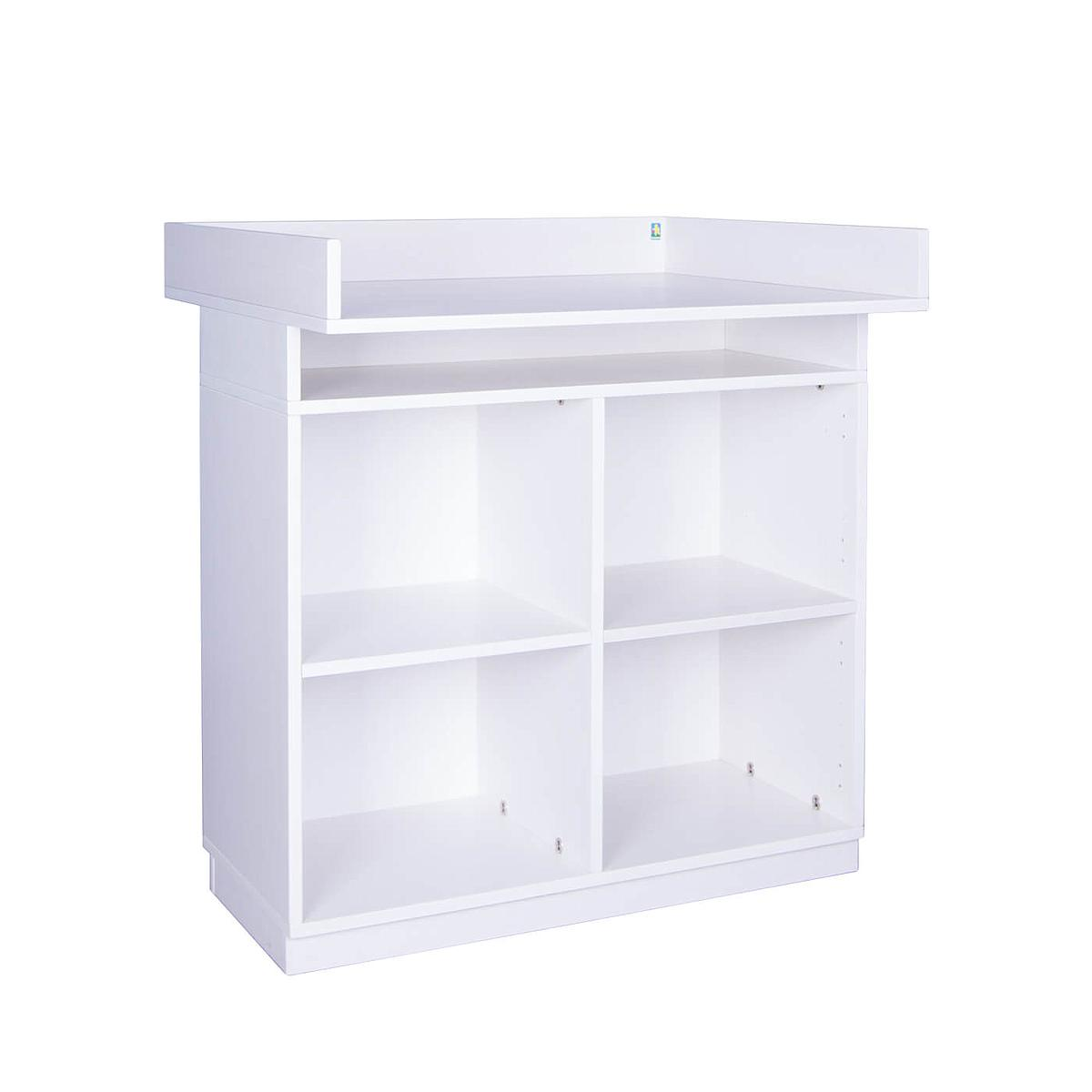 Wickelkommode ohne Türen DESTYLE Debreuyn Buchenfurnierte Spanplatte weiß gebeizt-lackiert