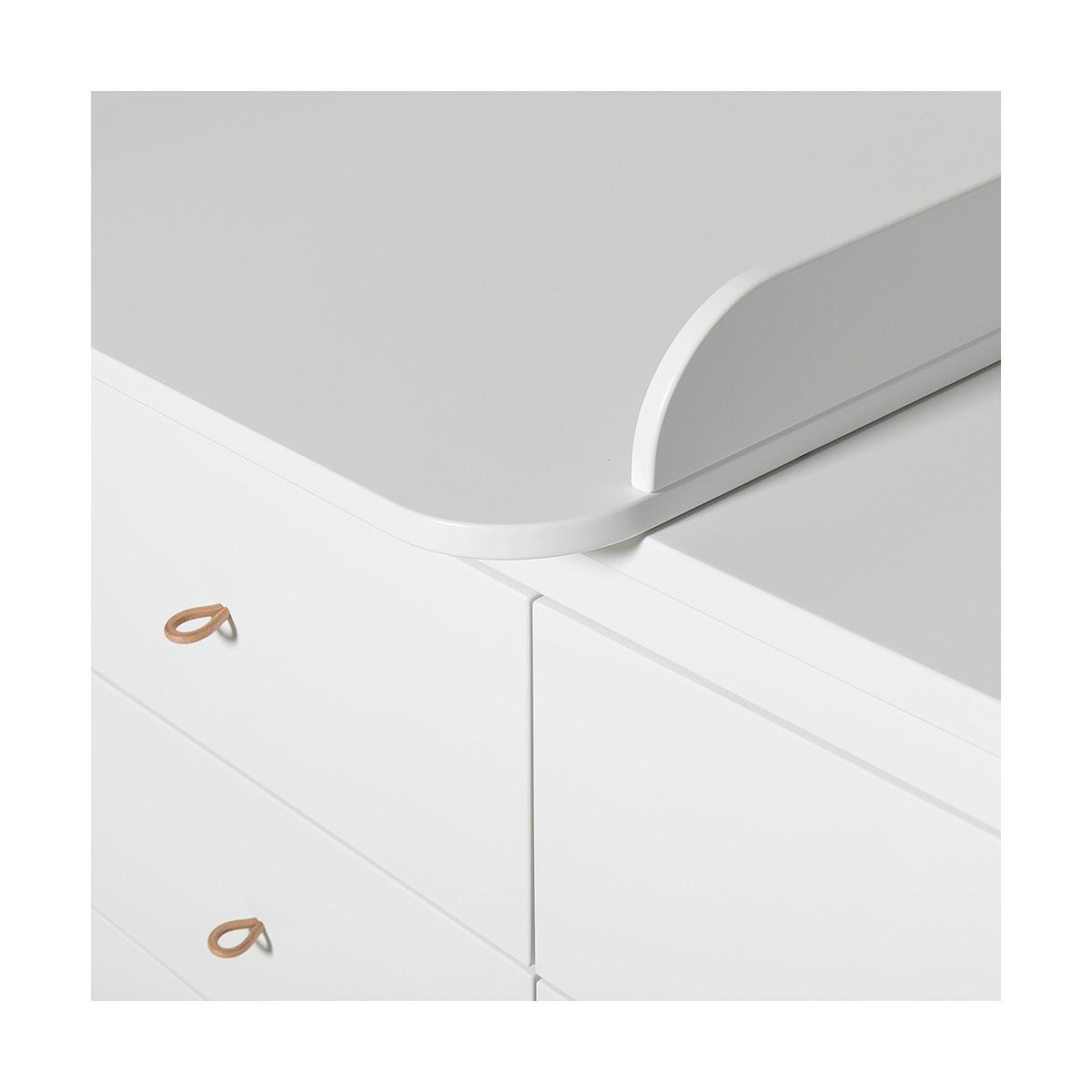 Wickelkommode small 6 Schubladen WOOD Oliver Furniture weiß