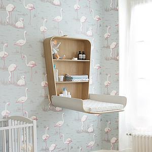 Wickeltisch-Wand NOGA Charlie Crane gentle white
