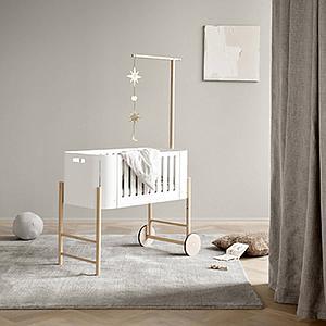 Wiege mitwachsend 42x82cm WOOD Oliver Furniture Weiß-Eiche